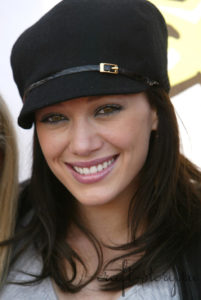 Hilary Duff jockey hat