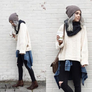 street look knit hat