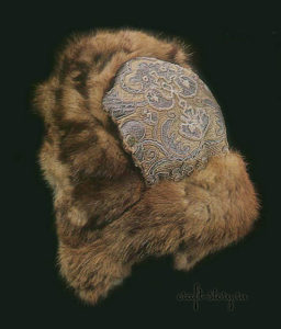 old russian fur winter hat
