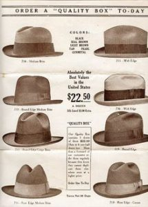 Catalog of hats 1920