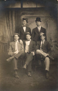 old photo mens in hats