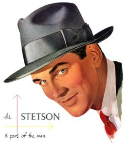 advertising of Stetson hat